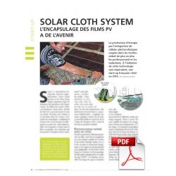 Solar Cloth System - L'encapsulage des films PV a de l'avenir (Article PDF)