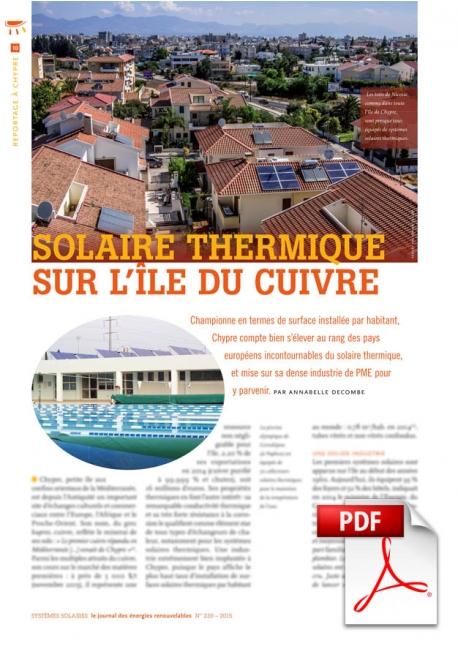 Article PDF - Solaire thermique sur l'île du cuivre (Novembre/Décembre 2015)