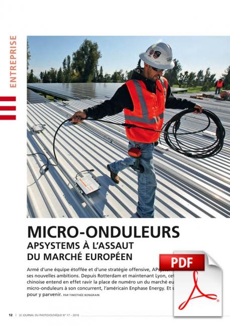 Micro-onduleurs : APsystems à l'assaut du marché européen