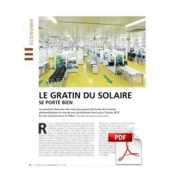 Économie : le gratin du solaire se porte bien (Article PDF)