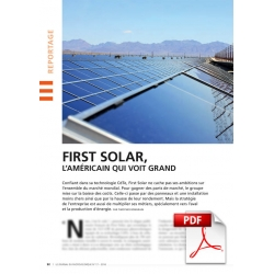 First Solar, l'américain qui voit grand (Article PDF)