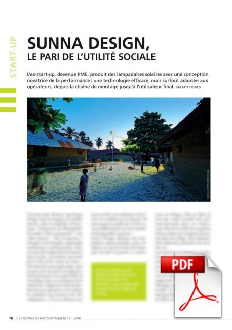 Sunna Design : Le Pari de l'utilité sociale (Article PDF)