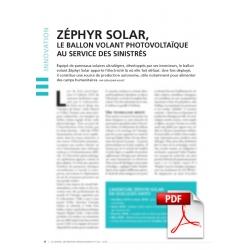 Zéphyr Solar, le ballon volant photovoltaïque au service des sinistrés