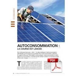 Article PDF - Autoconsommation : la course est lancée