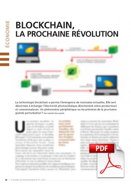 Article PDF - Blockchain, la prochaine révolution énergétique ?