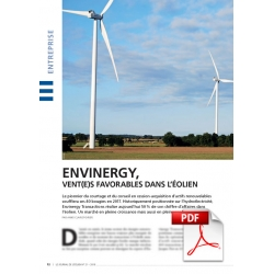 Envinergy, vent(e)s favorables dans l'éolien (Article PDF)