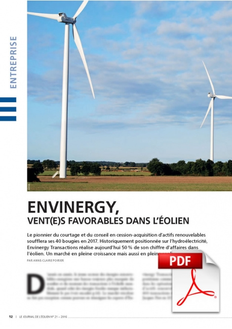 Envinergy, vent(e)s favorables dans l'éolien (Article PDF)