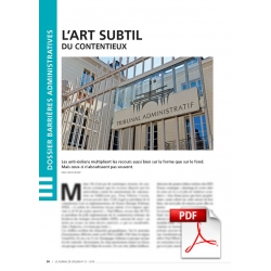 Dossier barrières administratives (Article PDF)