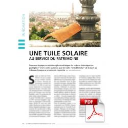 Une tuile solaire au service du patrimoine (Article PDF)