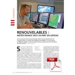 Renouvelables : Météo-France veut sa part du gâteau (Article PDF)