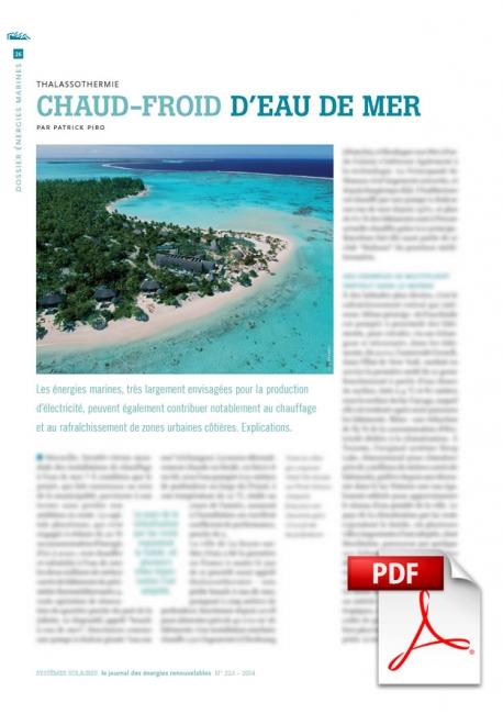 Article PDF - Thalassothermie : Chaud-froid d'eau de mer (Sept./Octobre 2014)