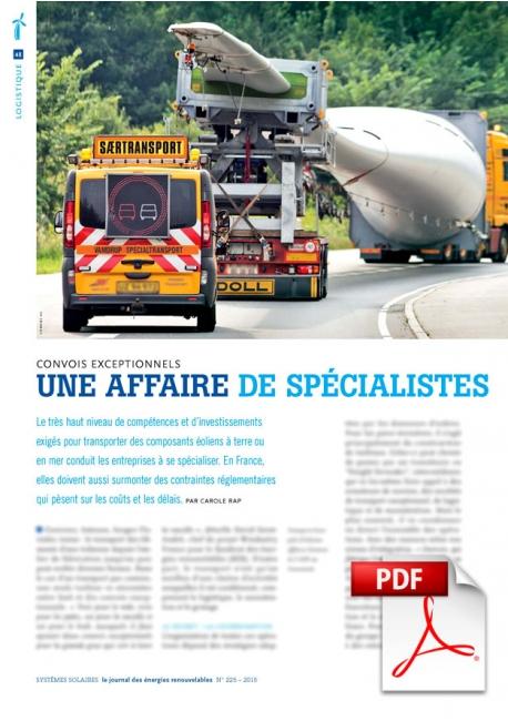Article PDF - Convois exceptionnels : une affaire de spécialistes (Janv./Février 2015)