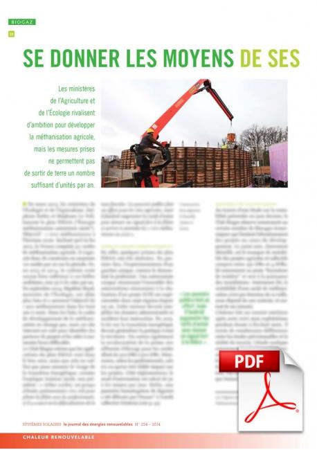 Article PDF - Méthanisation (Nov./Décembre 2014)