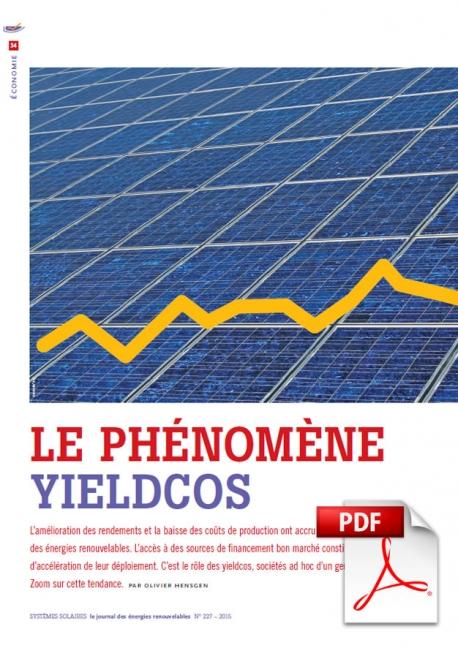 Article PDF - Le phénomène Yieldcos (Mai/Juin 2015)