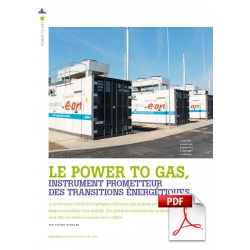 Le power to gas, un instrument prometteur (Article PDF)